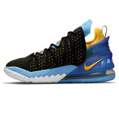 Nike LeBron 18 Minneapolis Lakers Basketball Shoes Black US 7, Black, rebel_hi-res