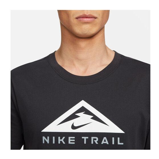 Nike Mens Dri-FIT Trail Running Tee, Black, rebel_hi-res