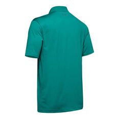 Under Armour Mens Performance 2.0 Golf Polo Teal M, Teal, rebel_hi-res