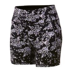 Ell & Voo Womens Paige Printed Pocket Shorts Black XS, Black, rebel_hi-res