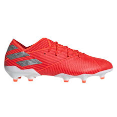 adidas Nemeziz 19.1 Football Boots Red / Silver US Mens 7 / Womens 8, Red / Silver, rebel_hi-res