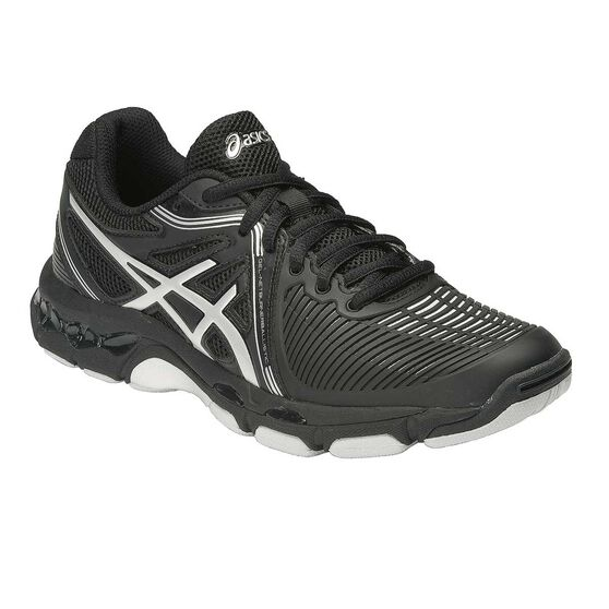 Asics Gel Netburner Ballistic MT Womens Netball Shoes Black   Silver US 10 6b7b41d0169