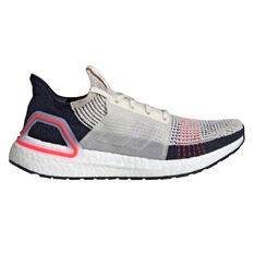 adidas Ultraboost 19 Mens Running Shoes Brown / White US 7, Brown / White, rebel_hi-res