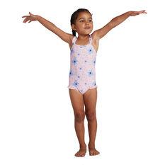 Speedo Girls Koala Thinstrap One Piece Swimsuit Pink/Print 4, Pink/Print, rebel_hi-res
