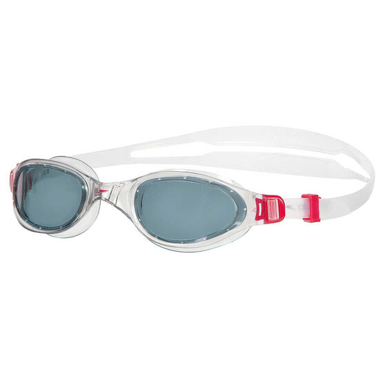 Speedo Futura Plus Senior Swim Goggles Red / Smoke, , rebel_hi-res