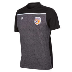 Perth Glory 2019/20 Mens Travel Polo, Black, rebel_hi-res