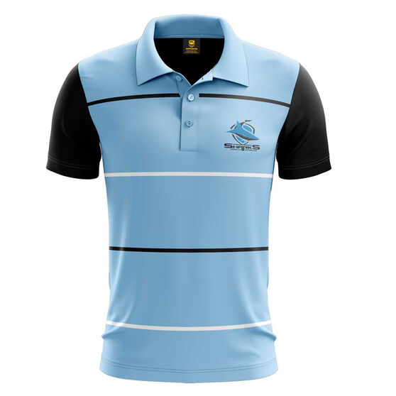 Cronulla-Sutherland Sharks Mens Club Like Performance Polo Blue S, Blue, rebel_hi-res