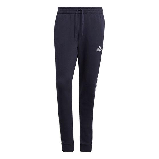 adidas Mens Volume Fleece 3 Stripes Tapered Track Pants, Navy, rebel_hi-res