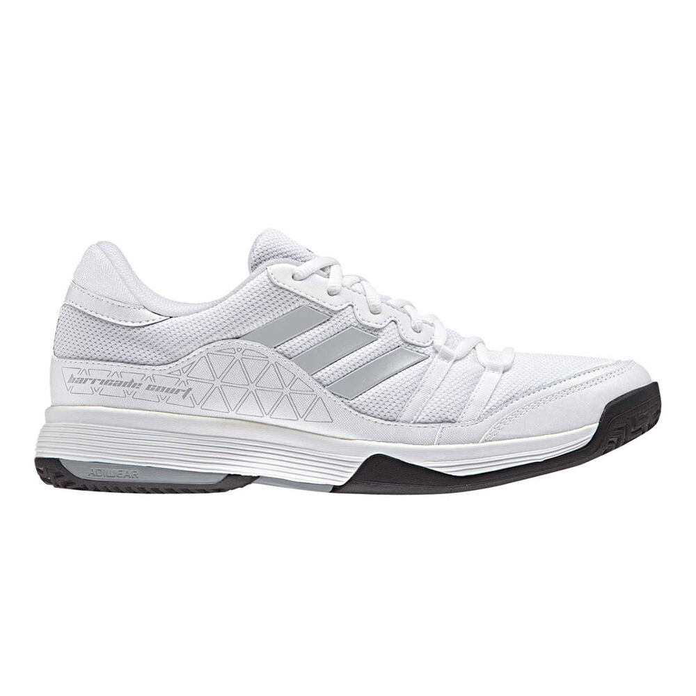 best service 3399c 4930a adidas Barricade Court Mens Tennis Shoes White   Grey US 9.5, White   Grey,