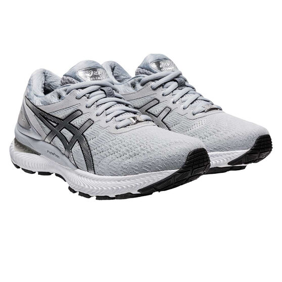 Asics GEL Nimbus 22 Platinum Womens Running Shoes, Grey/Silver, rebel_hi-res