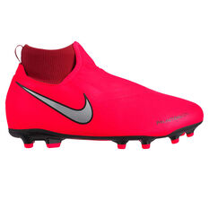 Nike Phantom Vision Academy Kids Football Boots, Red / Silver, rebel_hi-res