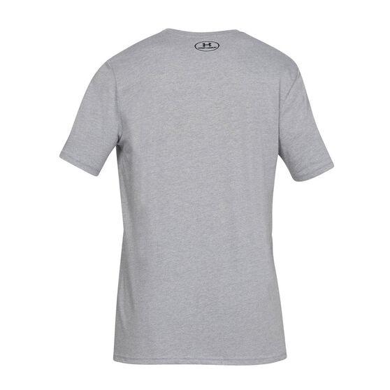 Under Armour Mens Sportstyle Logo Tee, Grey, rebel_hi-res