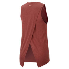 Nike Womens Yoga Training Tank Rust XS, Rust, rebel_hi-res