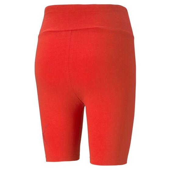 """Puma Womens Essentials 7"""" Shorts, Red, rebel_hi-res"""