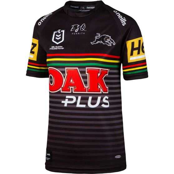 Penrith Panthers 2020 Womens Home Jersey, Black, rebel_hi-res