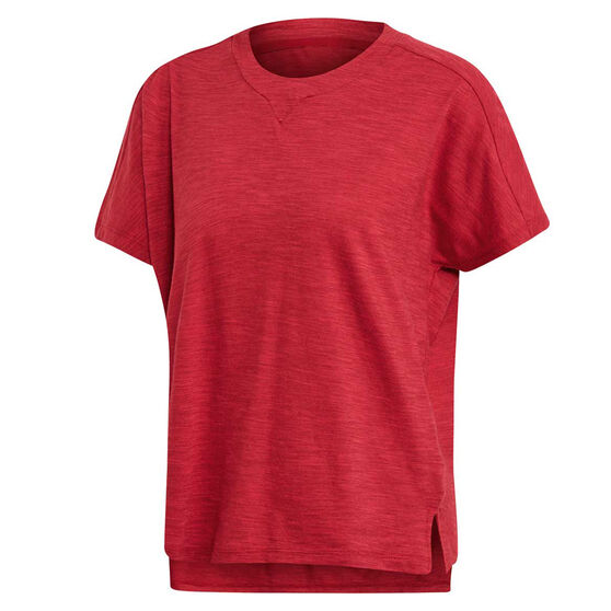 adidas Womens ID Winners AtTEEtude Tee Red L, Red, rebel_hi-res