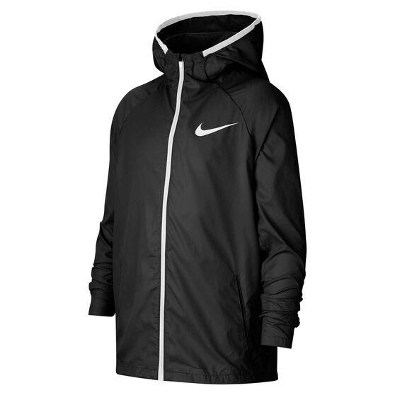 Nike Boys Sportswear Woven Jacket, Black / White, rebel_hi-res