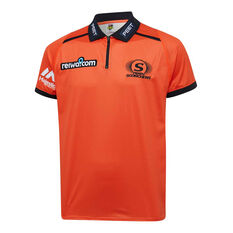 Perth Scorchers 2019/20 Mens Media Polo Orange M, Orange, rebel_hi-res