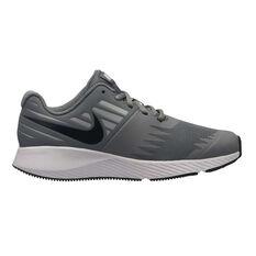 Nike Star Runner Boys Running Shoes Grey / White US 4, Grey / White, rebel_hi-res