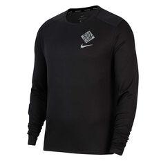 Nike Mens Pacer Wild Run Running Top Black S, Black, rebel_hi-res