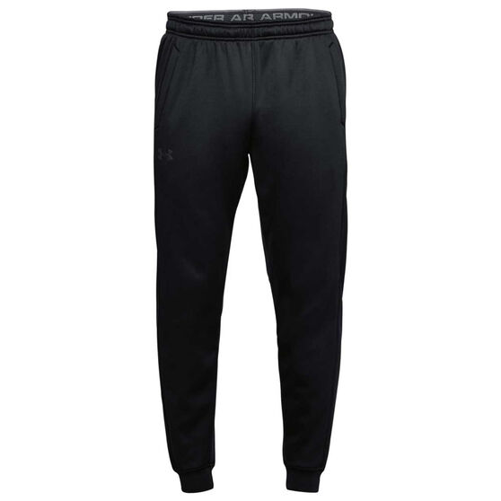 Under Armour Mens Armour Fleece Jogger Pants, Black, rebel_hi-res