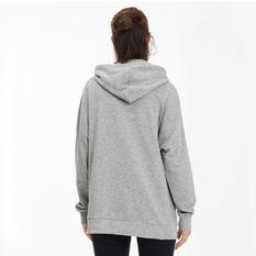 Puma Womens Essentials+ Elongated Hoodie Grey XS, Grey, rebel_hi-res