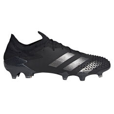 adidas Predator 20.1 Low Football Boots Black US Mens 5 / Womens 6, Black, rebel_hi-res