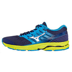 Mizuno Wave Prodigy Mens Running Shoes Blue / Yellow US 8, Blue / Yellow, rebel_hi-res