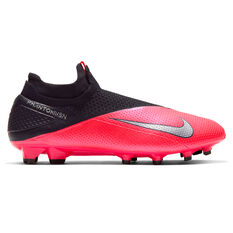 Nike Phantom Vision II Elite Football Boots Black / Red US Mens 4 / Womens 5.5, Black / Red, rebel_hi-res