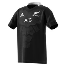 All Black 2019 Kids Home Jersey Black 7-8, Black, rebel_hi-res