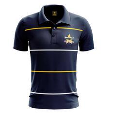 North Queensland Cowboys Mens Club Line Performance Polo Navy S, Navy, rebel_hi-res