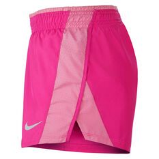 Nike Womens 10K Running Shorts Pink XS, Pink, rebel_hi-res