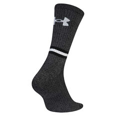 Under Armour Mens Phenom Twisted Crew Socks Black M, Black, rebel_hi-res