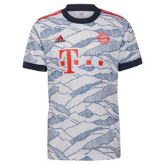 FC Bayern Munich 2021/22 Mens Replica Third Jersey 21/22 Third Jersey White S, White, rebel_hi-res