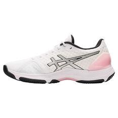 Asics Netburner Super FF Womens Netball Shoes White/Silver US 7, White/Silver, rebel_hi-res