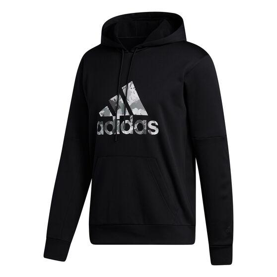 adidas Mens Go Big Badge of Sport Hoodie, Black, rebel_hi-res