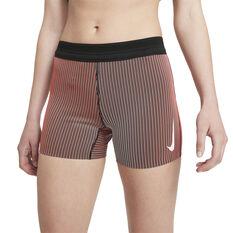 Nike Womens Dri-FIT AeroSwift Running Shorts Pink XS, Pink, rebel_hi-res
