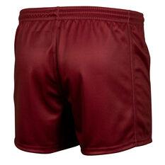 QLD Maroons State of Origin 2021 Mens Training Shorts Maroon S, Maroon, rebel_hi-res