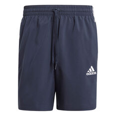 adidas Mens 3-Stripes Chelsea Shorts Navy XS, Navy, rebel_hi-res