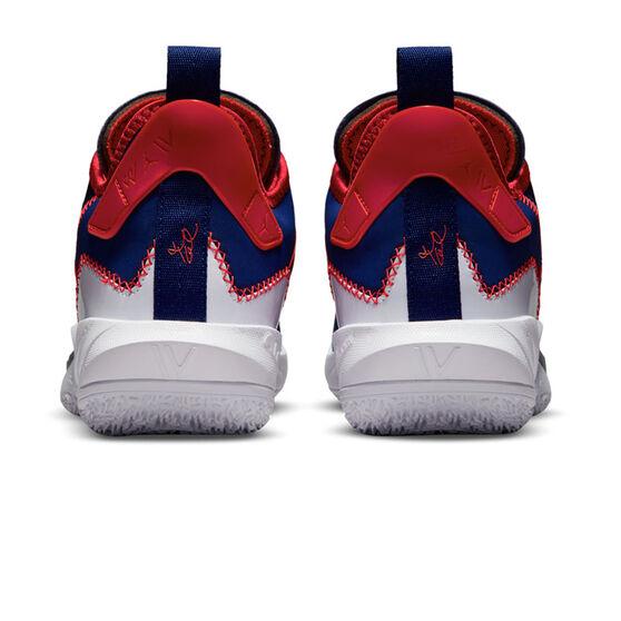 Jordan Why Not Zer0.4 Kids Basketball Shoes, Blue, rebel_hi-res