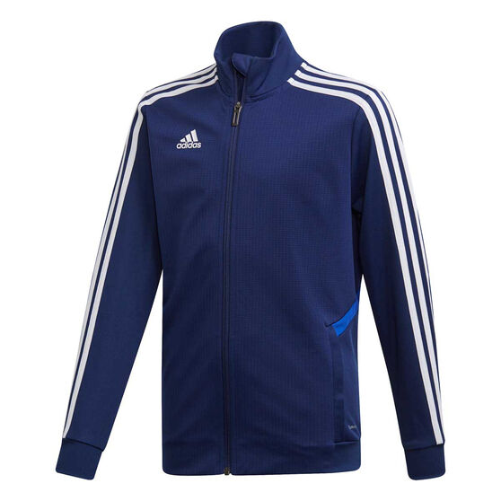 adidas Boys Tiro 19 Training Jacket, Blue / White, rebel_hi-res
