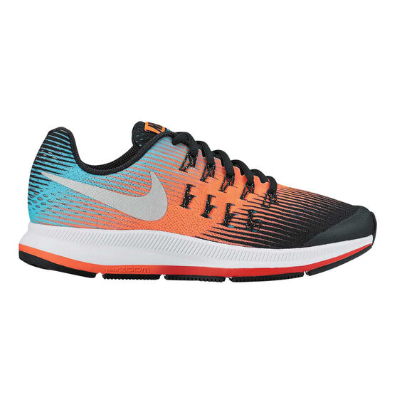 pretty nice adfd6 4a7fc Nike Zoom Pegasus 33 Boys Running Shoes Black  Orange US 7, Black  Orange