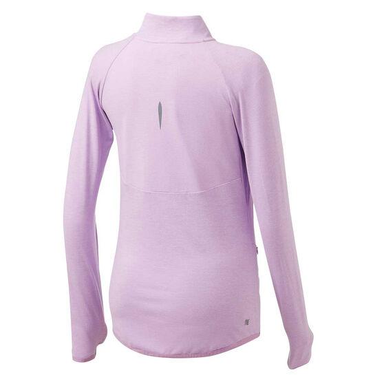 Ell & Voo Womens Amelia Full Zip Top, Purple, rebel_hi-res