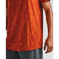Under Armour Mens MK-1 Printed Tee Orange M, Orange, rebel_hi-res