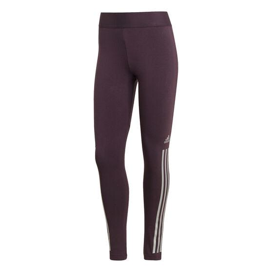 adidas Womens Glam On Tights, Purple, rebel_hi-res