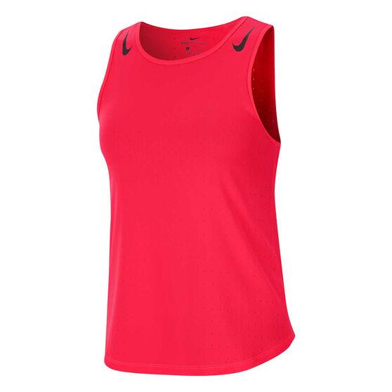 Nike Womens AeroSwift Tank, Red, rebel_hi-res