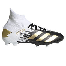 adidas Predator 20.3 Kids Football Boots White/Gold US 1, White/Gold, rebel_hi-res