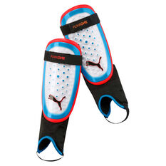 Puma One 1.3 Ankle Shin Guards White / Blue S, White / Blue, rebel_hi-res