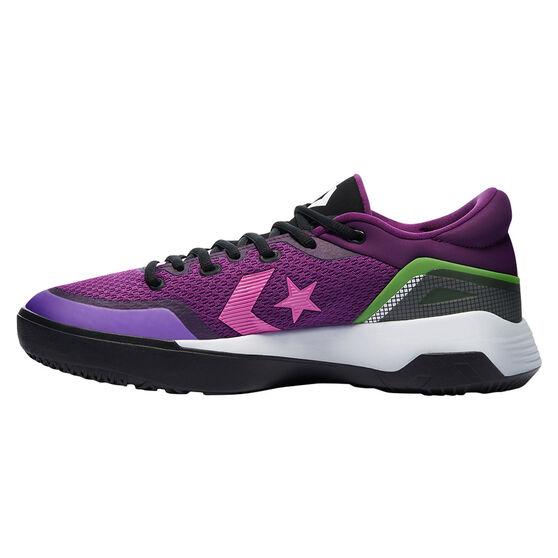 Converse G4 Low Miami Nights Basketball Shoes, Black/Pink, rebel_hi-res