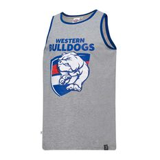 Western Bulldogs Mens Cotton Tank Singlet, , rebel_hi-res